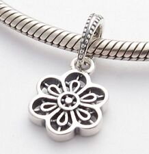 DAISY FLOWER LACE DANGLE CHARM Bead Sterling Silver.925 for European Bracelet538