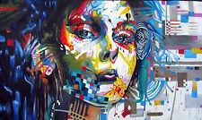 Framed Canvas print Urban girl princess blue Street Art art painting Australia