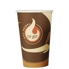 "750 Papp Trinkbecher ""To Go"" 0,4 l Party Einwegbecher Kaffeebecher"