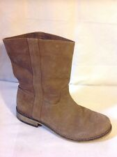 Girls Mini Boden Brown Leather Boots Size 35