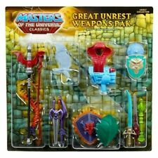 He-Man MOTU Masters of the Universe Classics Great Unrest Weapons Pak New in Box