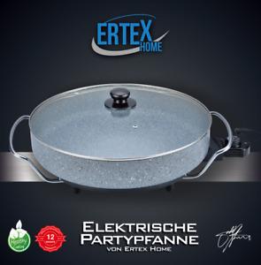Partypfanne Ø40/7 cm Elektropfanne Pizzapfanne Multipfanne Pfanne Aluguss Marmor