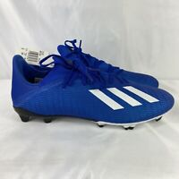NEW Adidas Men's X 19.3 FG Soccer Cleats Size 12 EG7130 Blue White