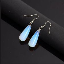 1pair Vintage Creative Natural Stone Drop Dangle Opal Earrings Women Jewelry