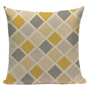 Yellow Diamond YG12 Cushion Pillow Cover Pattern Design Stylish Modern Geometric