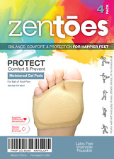 ZenToes Fabric Metatarsal Sleeve with Sole Cushion 4 Pack of Gel Pads USA Ship