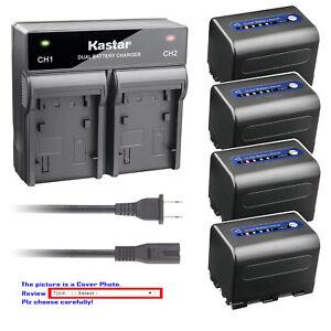 Kastar Battery AC Rapid Charger for Sony NP-QM71D NP-FM70 QM71 BC-VM50 BC-V650