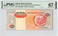 Angola 1995 P-138 PMG Superb Gem UNC 67 EPQ 50,000 Kwanzas Reajustados