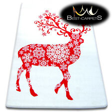 CHRISTMAS RUGS 'XMAS' CARPETS X-Mas Tree Carpet Raindeer Santa Claus Snow Stars