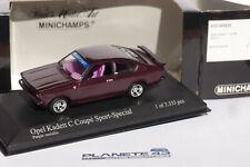 MINICHAMPS OPEL KADETT C GT/E COUPE SPORT SPECIAL 1973-77 430045625 1:43