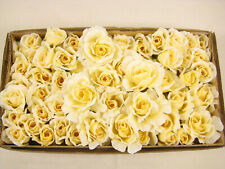 59 Dew Drop Rose Heads - Artificial Silk Rose Heads for Wedding, Arts and Crafts