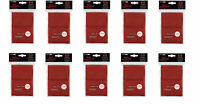 Lot of 1000 Red Ultra Pro Deck Protector Sleeves Standard Magic Size Brand New