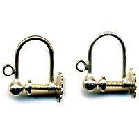 1pr Sterling Silver Ear Safety Hook Wires Dangle Drop Earrings 925 FE1302