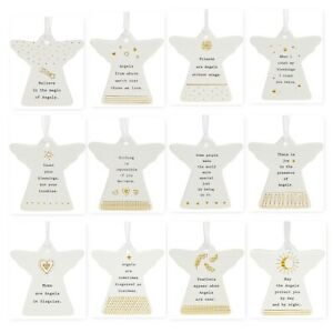 Thoughtful Words Ceramic Guardian Angel Sayings Gift Boxed 8x8cm Family & Friend