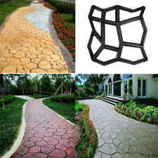 "Big 17"" Diy Garden Path Maker Mold Paving Cement Brick Mould Ornament Stone Road"