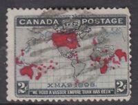 "Canada Scott #85 2c black lavender & carmine ""Imperial Penny Postage""  F"