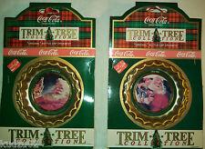 Coca Cola Christmas Ornaments Trim-A-Tree Bottle Cap - Unopened Pkgs.