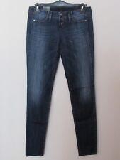 Benetton - Jeans donna blu scuro modello Slim taglia 30