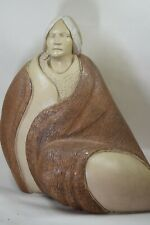 1986 Ron Schroder Southwest Style Woman Limited Ed. Sculpture Signed 199/400