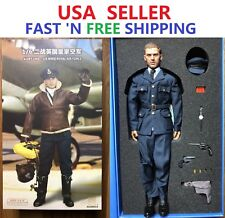 Alerte ligne guerre mondiale deux British Royal Air Force Pilote Bottes 1//6 Jouets Dragon Joe BBI Royal Air Force