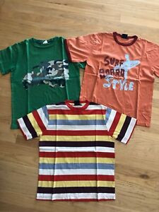 Lot of 4 MiniBoden s/s shirts, size 11-12
