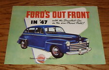 1947 Ford Car Foldout Sales Brochure 47 Coupe Convertible Sportsman