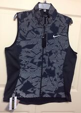 NWT NIKE WOMEN'S ESSENTIAL FLASH REFLECTIVE RUNNING VEST BLACK CAMO SIZE XL $100