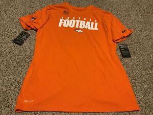 Nike Denver Broncos Orange Dri-Fit Shirt 2020 Men's Size: Large NWT Standard Fit