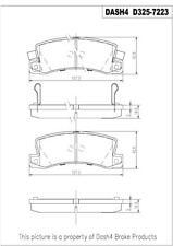 Disc Brake Pad Set-SEMI METALLIC PADS Rear Dash 4 Brake MD325