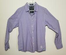 SCOTCH AND SODA Amsterdam purple striped Long Sleeve Button Down Shirt Size XL