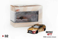 1:64 TSM Mini GT Nissan GT-R R35 LB WORKS Type I Ver2 Duck Tail Magic Bronze #32