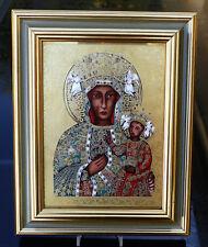 """Grosse Porzellan Ikone """" Bildnis der schwarzen Madonna von Tschenstochau """" !!!"""