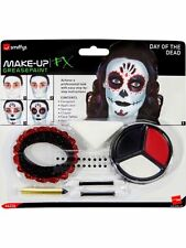 Smiffy's Day of The Dead Make up Kit Adult Unisex Smiffys Fancy Dress Costume 44226
