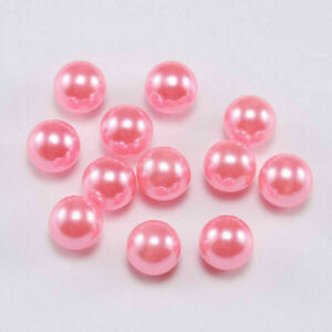 Wholesale Round No Hole ABS Imitation Pearl Loose Beads DIY Craft Jewelry Making