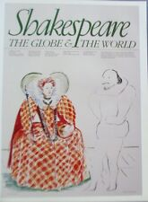 David Hockney Poster Reprint  For Shakespeare Play At Globe Theater England