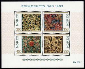 Norway Scott #1046 VF MNH 1993 Stamp Day Souvenir Sheet