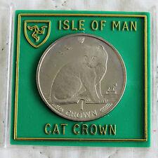 Isla De Man 1990 Diamante Acabado Gato Corona Caja cilíndrica