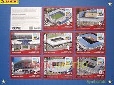 Panini★WM 2011 WC 11 WorldCup★ 8x Stadion-Sticker - Rewe extra - selten/rar