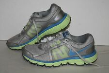 Nike Dual Fusion ST2 Running Shoes, #456970-007, Gry/Lime/Blu,Youth Size 4.5Y