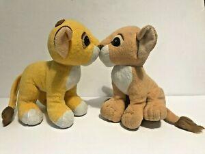 DISNEY Lion King Kissing Magnetic Simba Nala Plush Set of 2 Mattel 1993