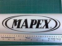 Mapex Bass Drum Head Vinyl Decal (Black)