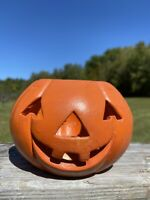 Ceramic Jack O Lantern Pumpkin Tealight Candle Holder Halloween Decor