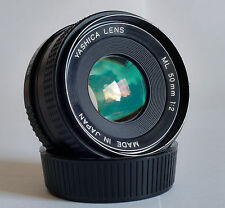 Yashica ML 50mm F2 Prime Lens, C/Y Mount, Very Clean Optics.