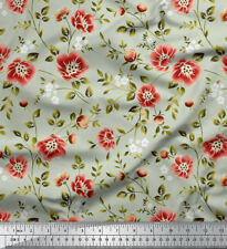 Soimoi 115 GSM Floral Print Viscose Rayon 58 Wide Craft Fabric Supply By Metre