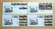 2010 Malaysia Trains Railway KTM 125 Years, Stamp 4v+Booklet 10v+MS 4 FDC (lotA)