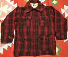 Vintage Woolrich Hunting Coat Mackinaw Plaid Size 40 #503