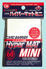 60 KMC MINI HYPER MAT WHITE Small Card Barrier NEW Matte Deck Protector Sleeves