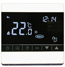 ELETTRICO Riscaldamento a pavimento termostato Touch Screen digitale 24/7 Wi Fi Bianco