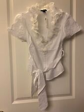 White Cotton Women's Blouse Size XS , Arden B.