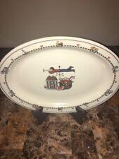 """INTERNATIONAL TABLEWORKS ~ (1) Serving Platter Susan Winget """"Windy Hill"""" Pattern"""